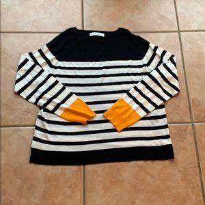 3/$30 Zara Knit Colorblock Stripe Sweater Medium